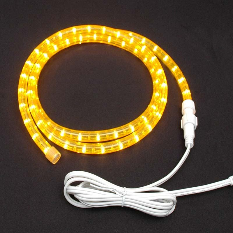 "Picture of Yellow Rope Light Custom Cut 1/2"" 120V Incandescent"