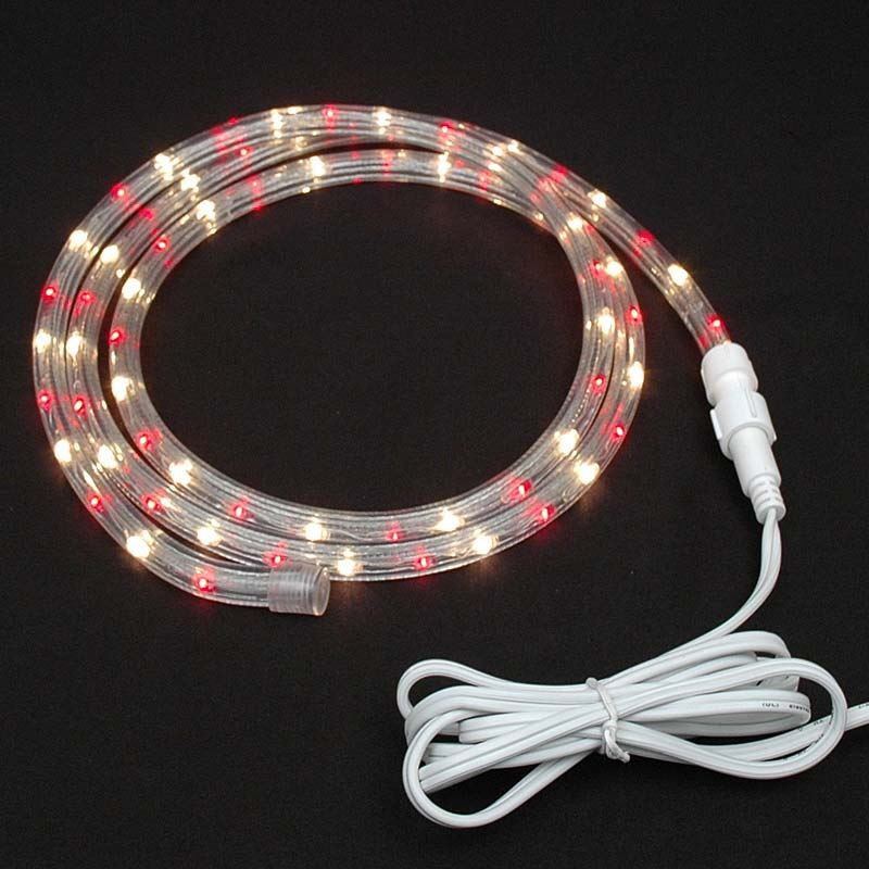 "Picture of Red/Clear Chasing Rope Light Custom Kits 1/2"" 3 Wire"