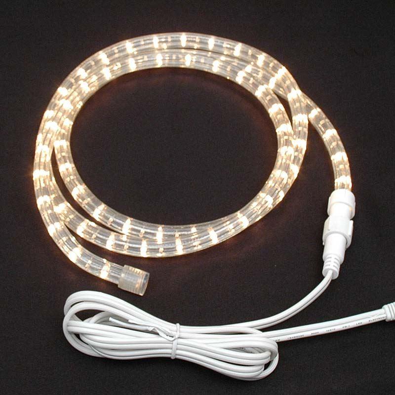Clear Custom Chasing Rope Light Kit 120v 3 Wire