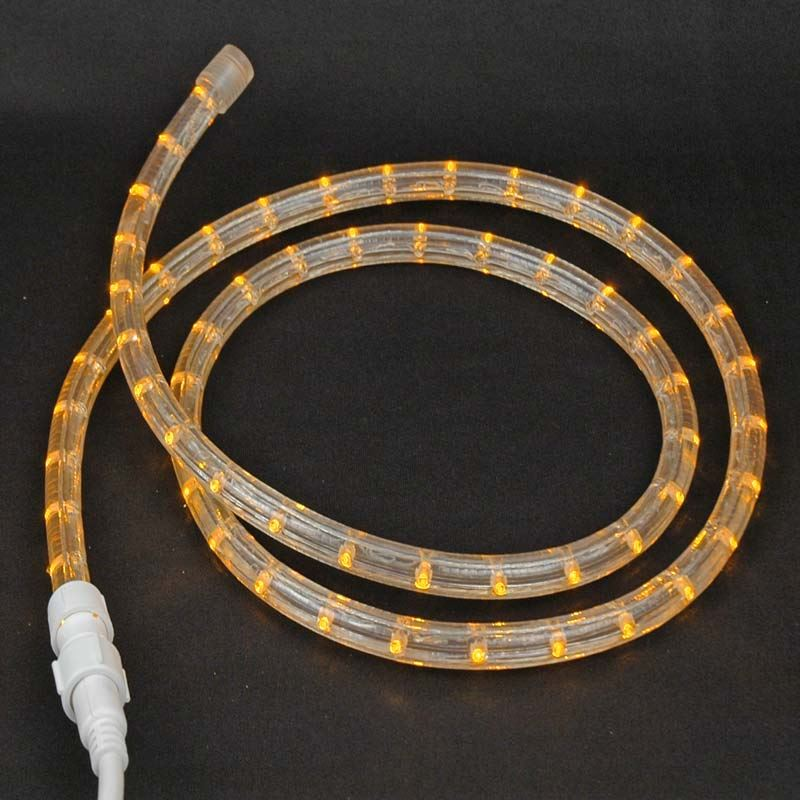 "Picture of Amber LED Custom Rope Light Kit 1/2"" 2 Wire 120v"