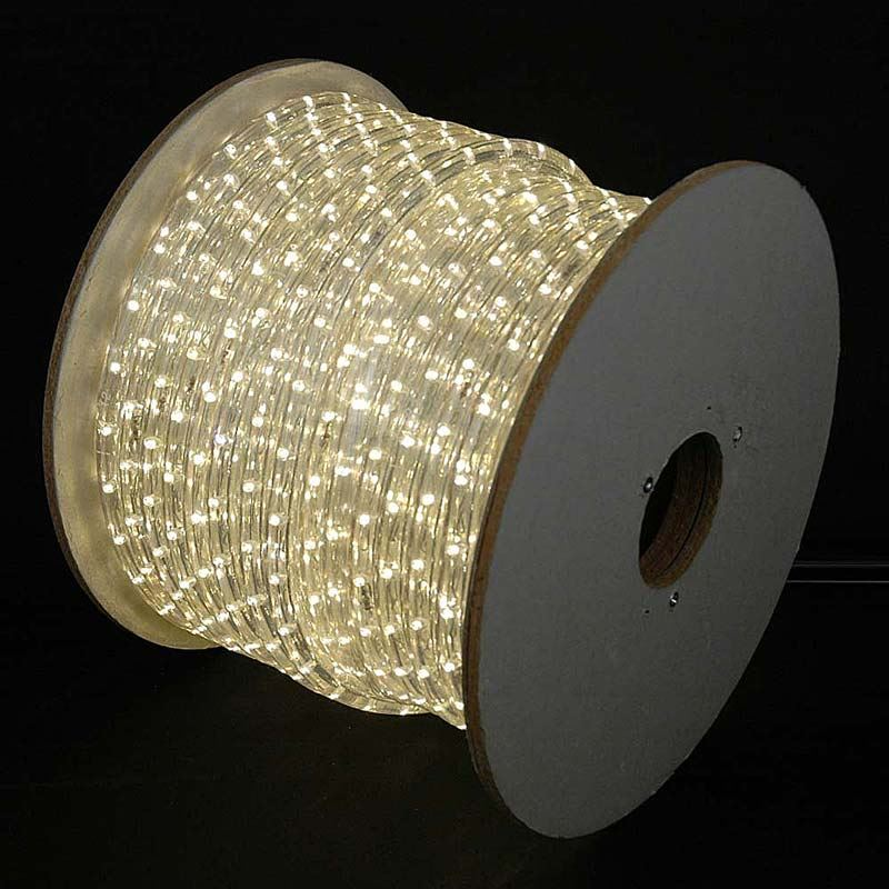 Led Wire String Lights : 150 LED Warm White Rope Light Spool 1/2 Inch, 120 Volt