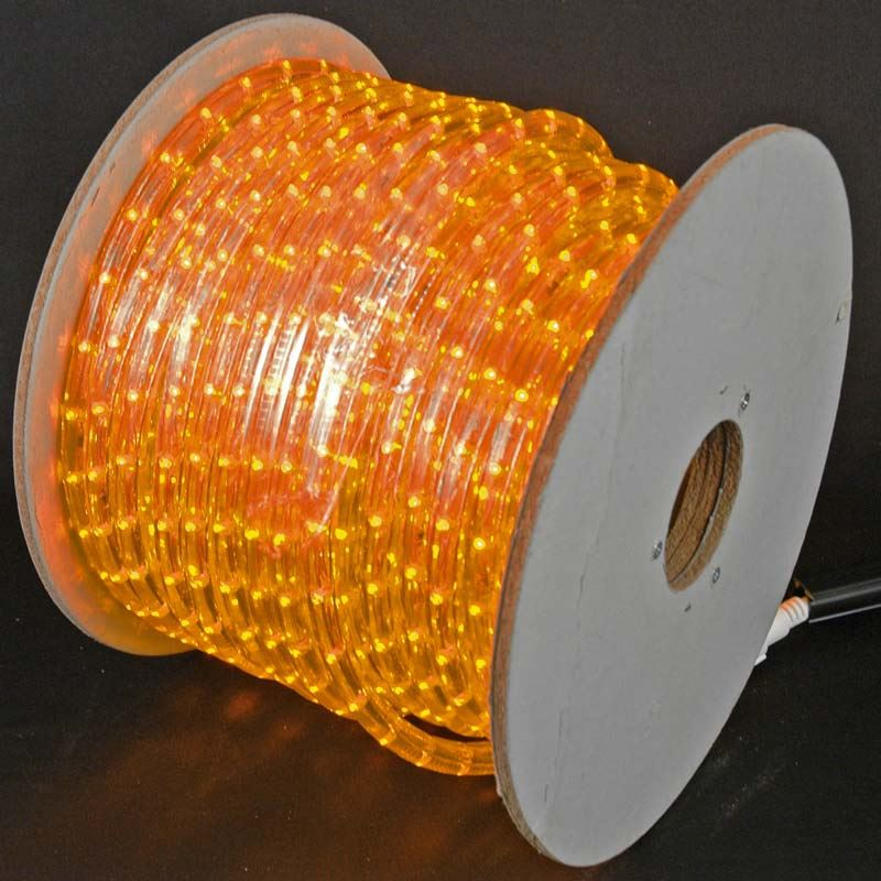 "Picture of Amber LED Spool 150' 1/2"" 2 Wire 120V"