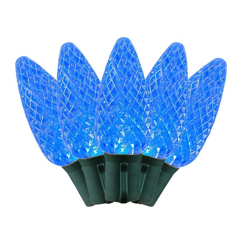 Led C9 String Lights : Commerical Grade LED C9 Light Sets with Blue Bulbs - Novelty Lights Inc