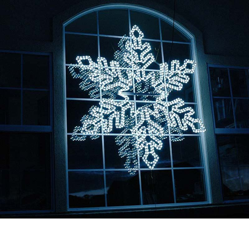 Quot led rope light snowflake cool white blue novelty