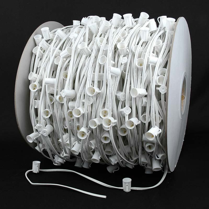 "Picture of C7 1000 Spool 12"" Spacing 8 Amp White Wire"
