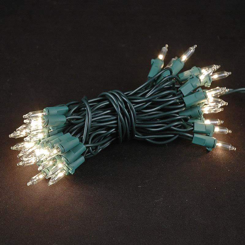 Picture of Non Connectable Green Wire Mini Lights 35 Light 13.5'