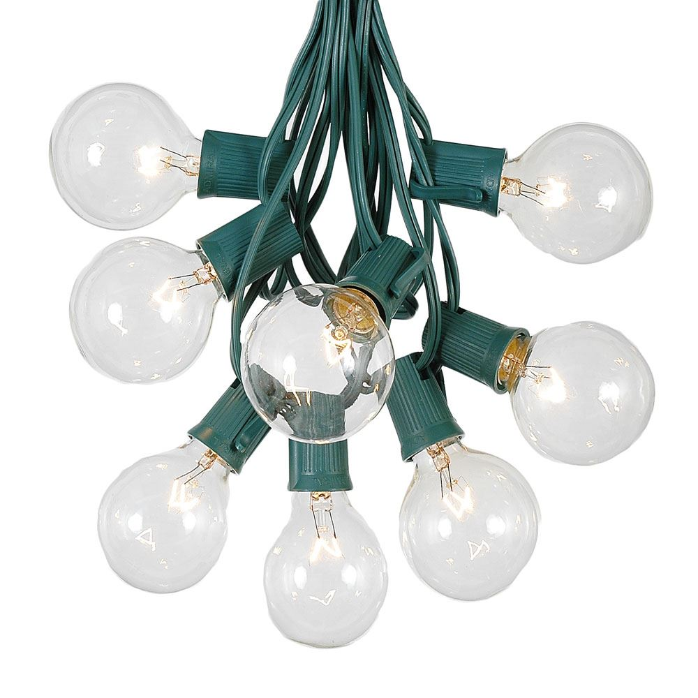 Picture of G50 Clear Globe Shaped Bulbs with 100 Socket String Light Set