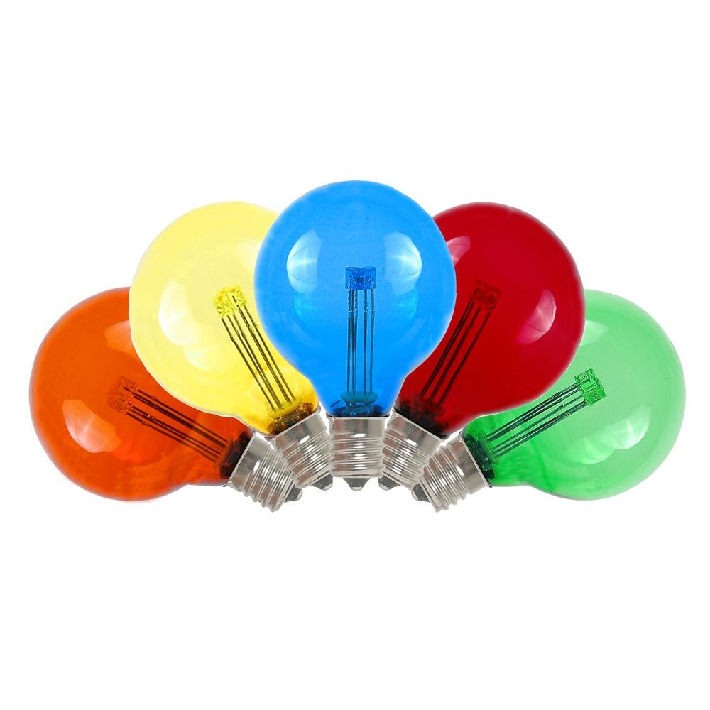 Buy Multi Colored Led G40 Glass Globe Light Bulbs Novelty Lights