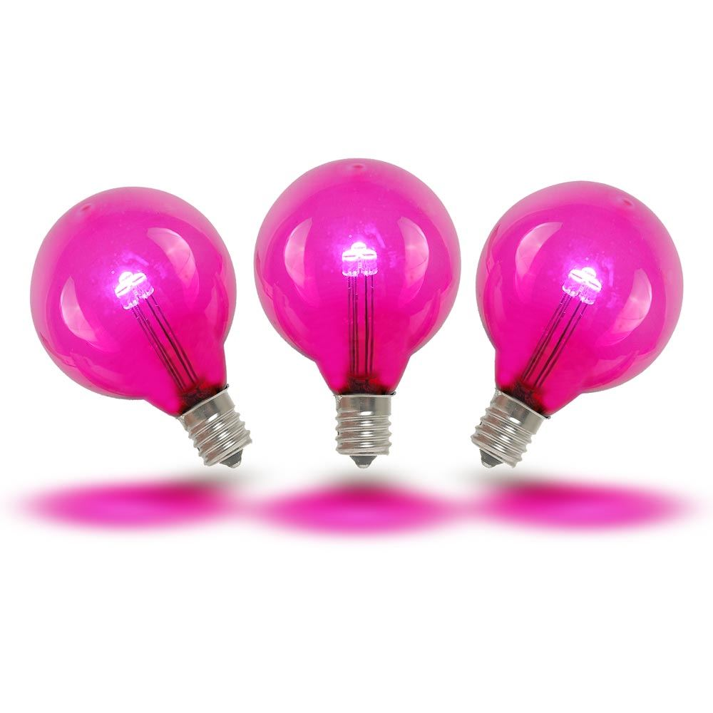 Picture of Pink - G40 - Glass LED Replacement Bulbs - 25 Pack