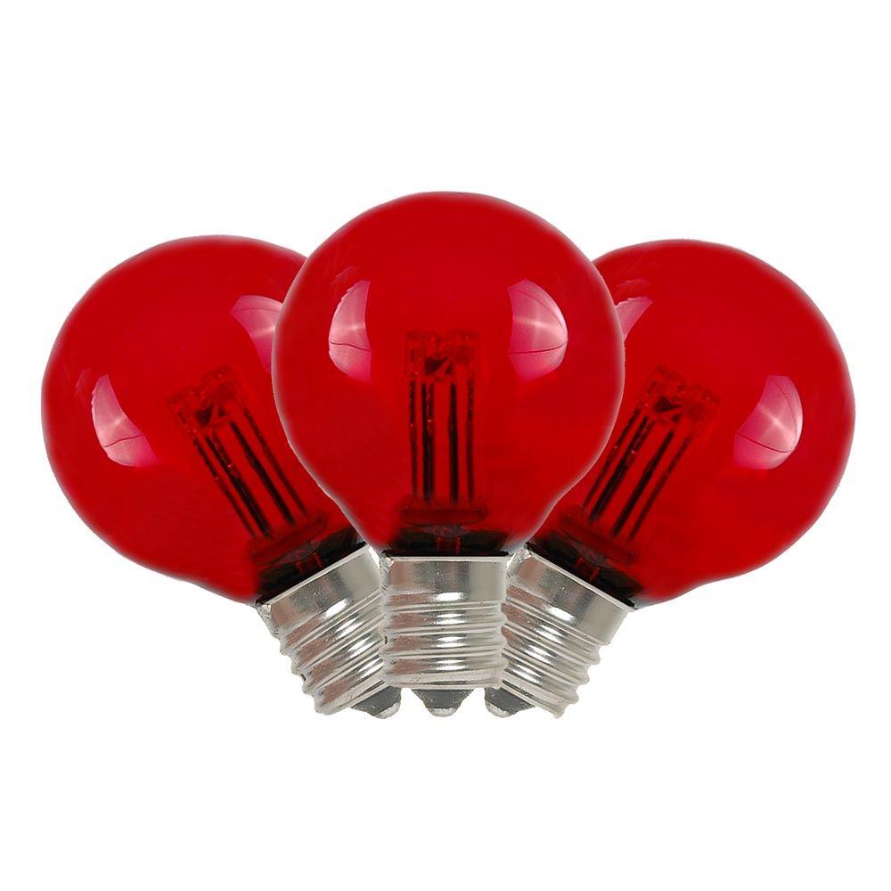 Red LED G30 Glass Globe Light Bulbs - Novelty Lights