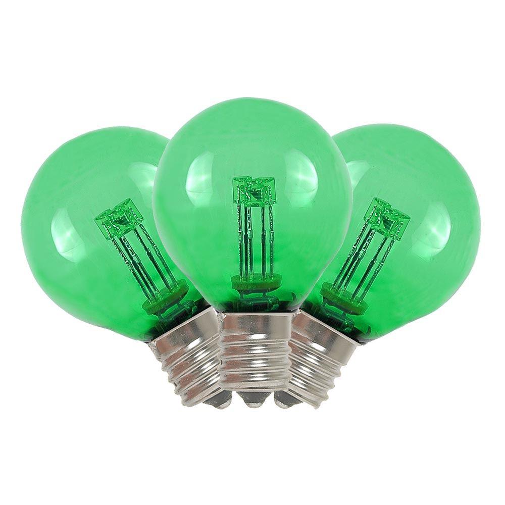 Light Bulb Novelty Lamp : Green LED G30 Glass Globe Light Bulbs - Novelty Lights