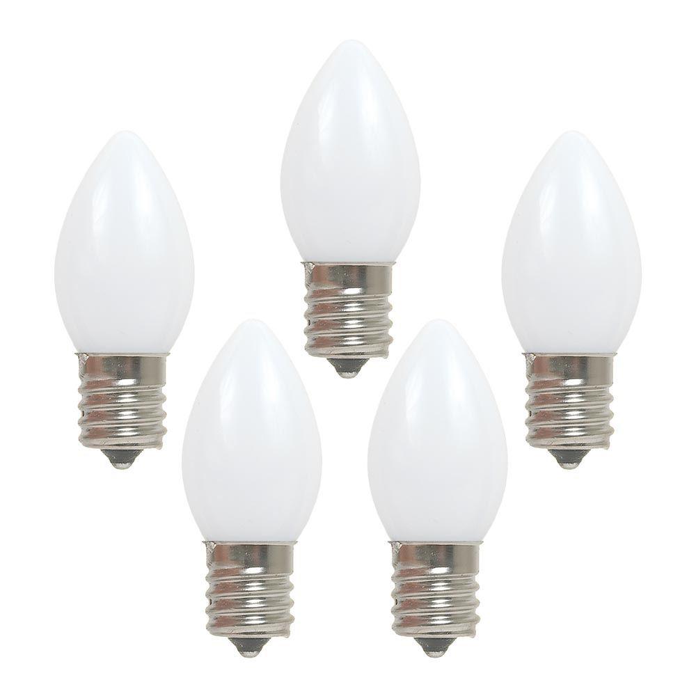 White Led C9 Ceramic Christmas Bulbs Novelty Lights