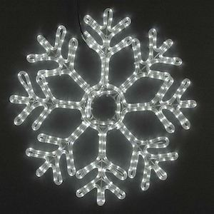 "Picture of 24"" Fancy LED Snowflake-Pure White *On Sale*"