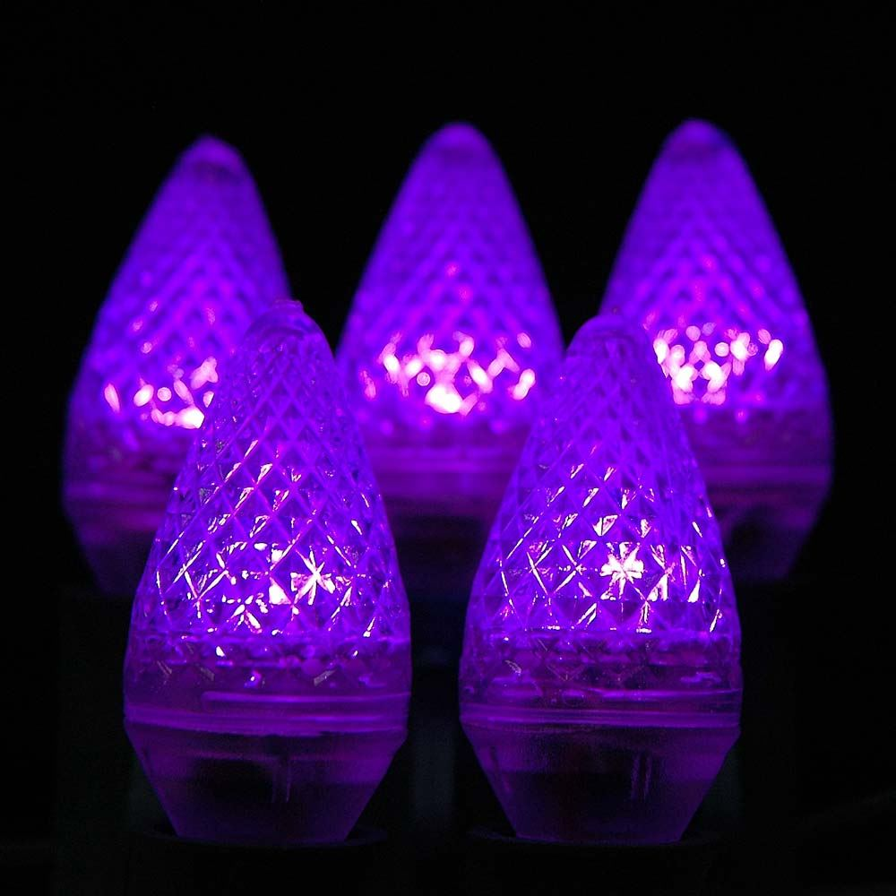 Picture of Purple C7 LED Replacement Lamps 25 Pack