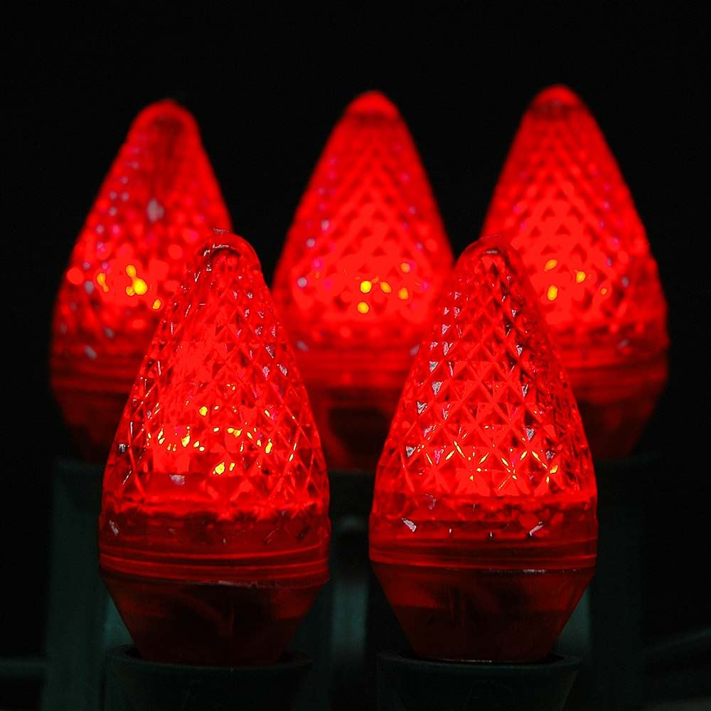 Picture of Red C7 LED Replacement Lamps 25 Pack