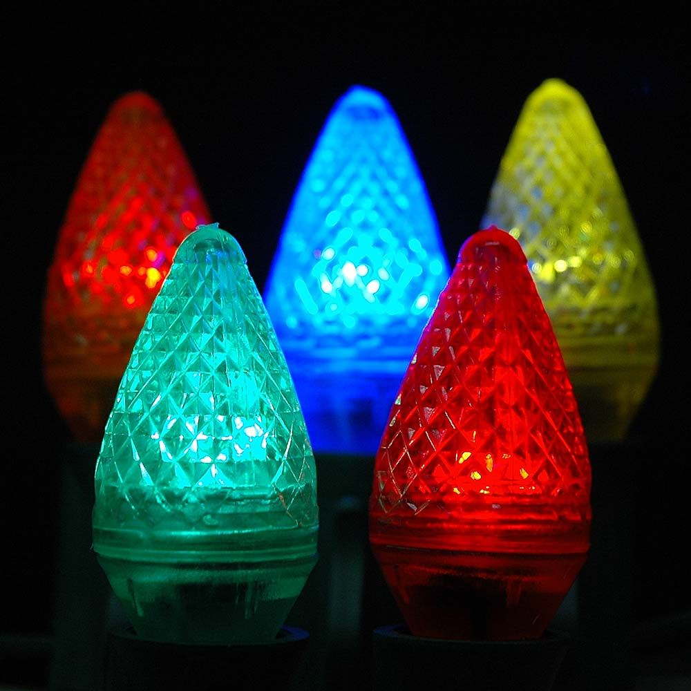 Picture of Multi Colored C7 LED Replacement Lamps 25 Pack