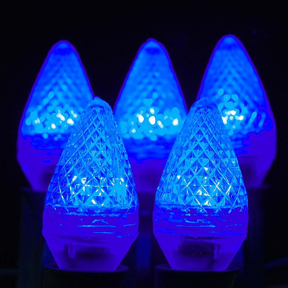 Blue LED C7 Replacement Christmas Bulbs And Lamps