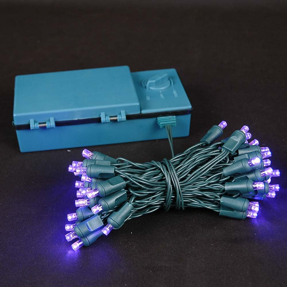 Picture of 50 LED Battery Operated Lights Purple