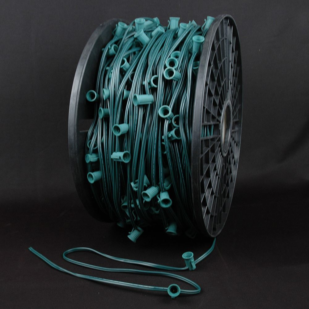 "Picture of C7 1000' Spool 24"" Spacing 8 Amp Green Wire"
