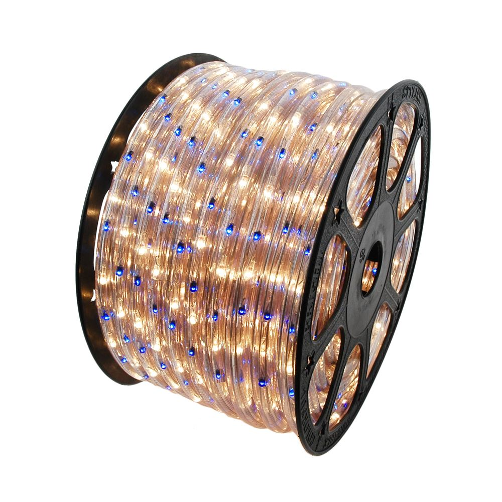 Picture of Blue/Clear 150 Ft Chasing Rope Light Spools, 3 Wire 120v 1/2""