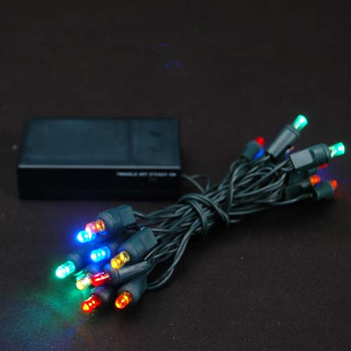 Picture of 20 LED Battery Operated Lights Multi Colored