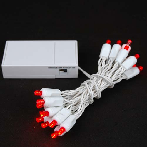 picture of 20 led battery operated lights red white wire
