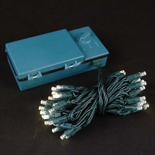 50 led battery operated lights warm white