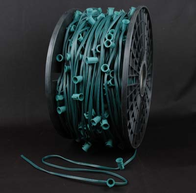 "Picture of 10 Amp C7 1000' Spool 24"" Spacing Green Wire"