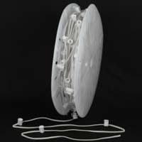 "Picture of C7 500' Spool 15"" Spacing 8 Amp White Wire"