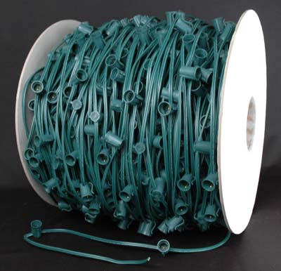 "Picture of 10 Amp C9 1000' Reel Green Wire 12"" Spacing"