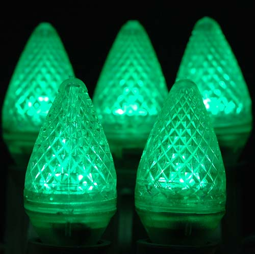 Picture of Dimmable Green C7 LED Replacement Bulbs 25 Pack