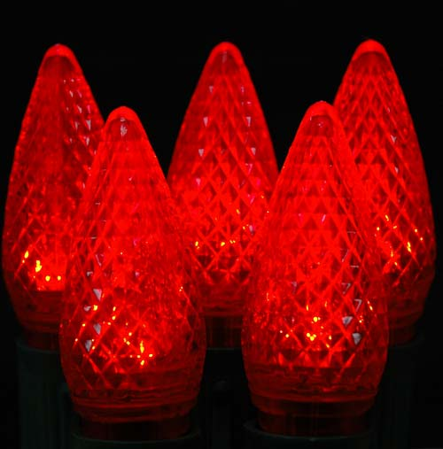 Picture of Dimmable Red C9 LED Bulbs