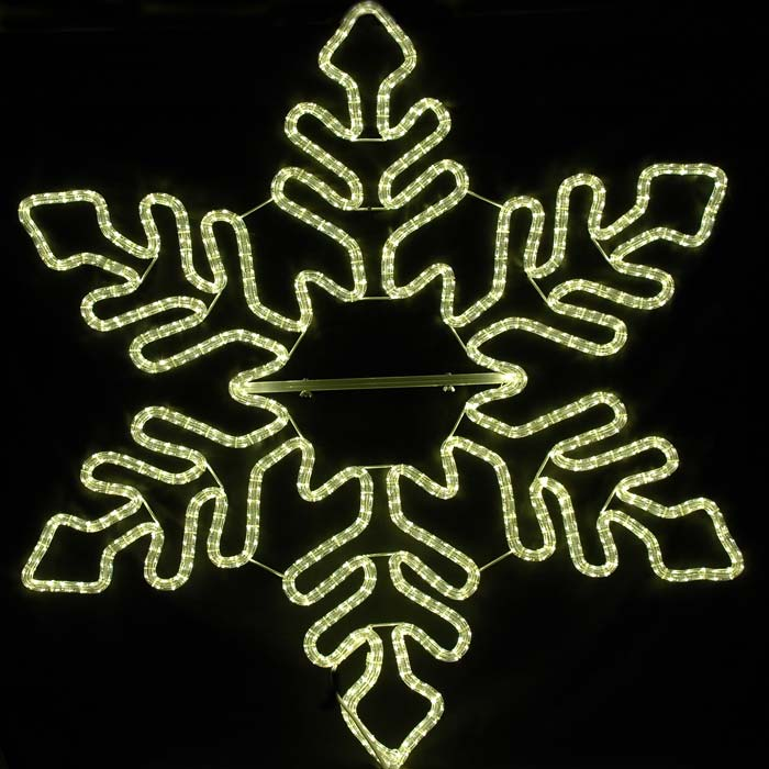 Picture of 5' Fancy Warm white LED Snowflake