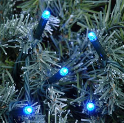 blue led mini christmas lights 50 bulb - Blue Christmas Tree Lights