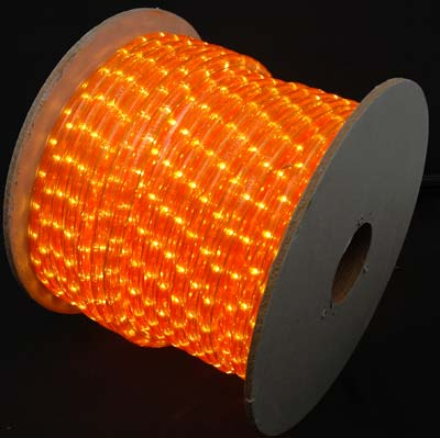 Amber and orange rope lights 150 ft amber rope light spool 12 120 volt aloadofball Choice Image