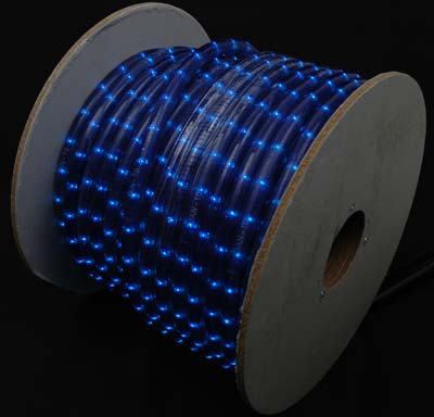 "Picture of 150 Ft Blue Rope Light Spool 1/2"" 120 Volt"