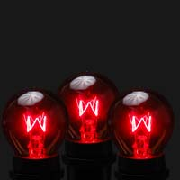 Picture of 25 Pack of Red S11 10 Watt Bulbs Intermediate Base e17