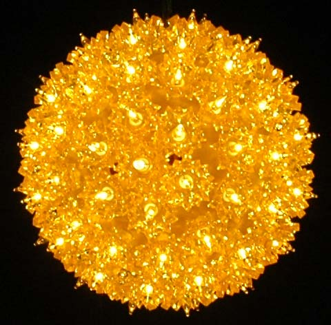 """Picture of Yellow 100 Light Starlight Sphere 7.5"""""""