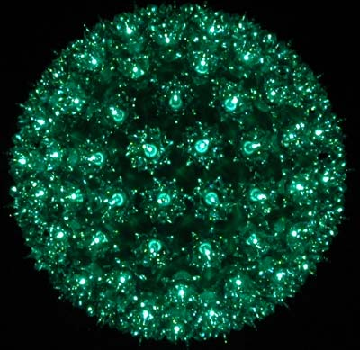 """Picture of Green 150 Light Starlight Sphere 10"""""""