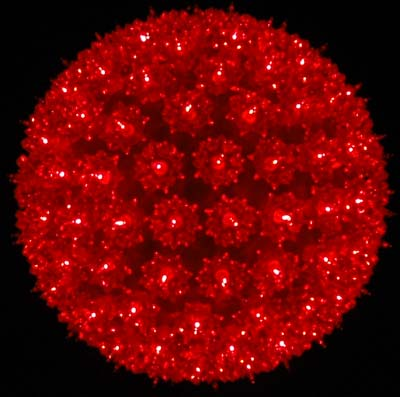 picture of red 150 light starlight sphere 10 - Christmas Sphere Lights