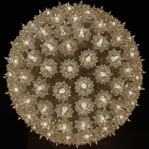 Picture of Silver 150 Light Starlight Sphere 10""