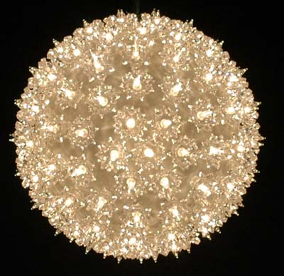 "Picture of 150 Light 10"" Clear Twinkling Starlight Spheres"