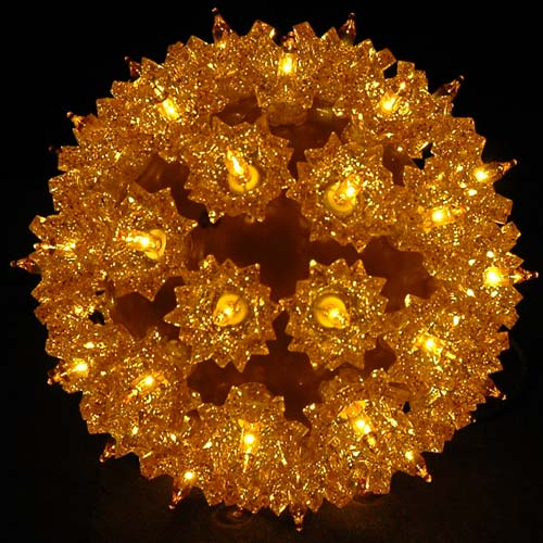 Picture of Gold 50 Light Mini Starlight Sphere 6""