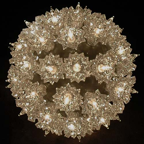 Picture of Silver 50 Light Mini Starlight Sphere 6""
