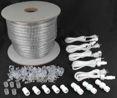Clear 150 feet chasing rope light spools 3 wire 120 volt picture of clear 150 ft chasing rope light spools 3 wire 120v 12 mozeypictures Choice Image