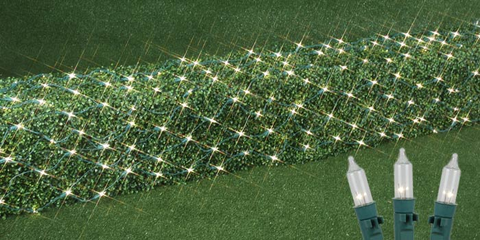 Picture of 2' x 10' Pro-Grade Net Lights - Green Wire