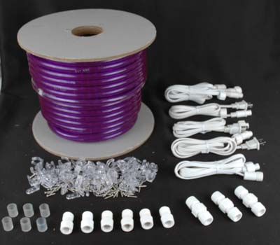 Purple 150 feet chasing rope light spools 3 wire 120 volt picture of purple 150 ft chasing rope light spools 3 wire 120v 12 aloadofball Choice Image
