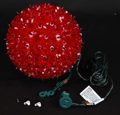 Quot starlight sphere light red christmas lighted ball