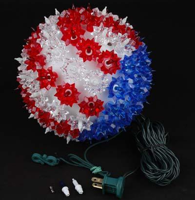 Patriotic 7 5 Quot Starlight Sphere 100 Light Lighted Ball