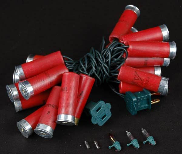 Red Colored Shotgun Shell String Lights - Novelty Lights Inc